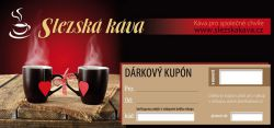 Dárkový kupón na čerstvě praženou kávu Slezská káva a čaj